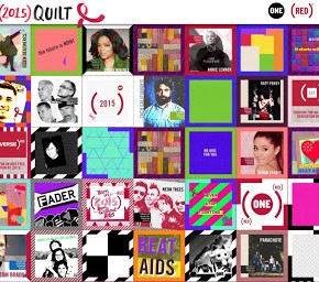 Social Obsessions | ONE and (RED) Launch 2015 Digital Quilt to fight AIDS